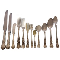 Buttercup by Gorham Sterling Silver Flatware Set for 12 Dinner 286 Pcs Huge Box
