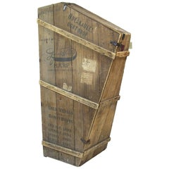 1920s Lyon and Healy Harp Crate Storage Unit