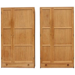 Hans Wegner Pair of Oak Wardrobes