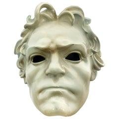Beautiful Ceramic Portrait of Ludwig Van Beethoven, Italy, circa 1910