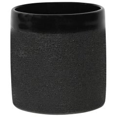 Contemporary Handmade Ceramic Black Dew Glaze Cup
