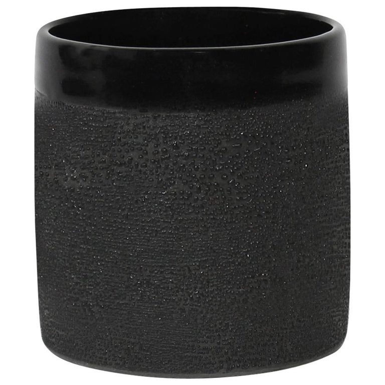 Contemporary Handmade Ceramic Black Dew Glaze Cup