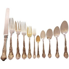 Meadow by Gorham Sterling Silver Flatware Set for 12 Service 176 pieces Dinner