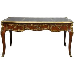 Louis XV Style Ormolu Mounted Figural Bureau Plat Writing Table