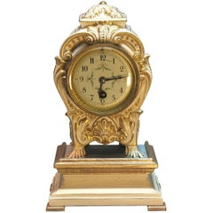 Louis XVI Style Porcelain Mantle Clock, French, Late 19th Century