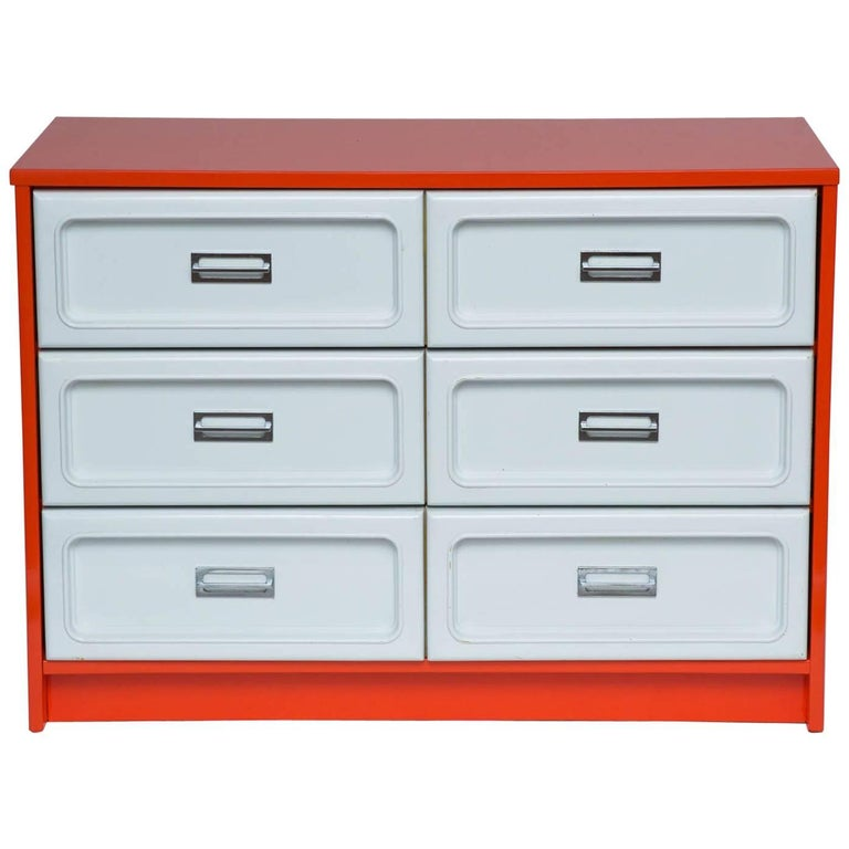 B Et Plastic Front Dresser In The Manner Of Raymond Loewy For Sale