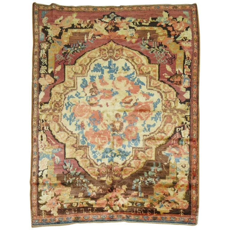 Armenian Antique Rugs: Dated Antique Armenian Karabagh Rug For Sale At 1stdibs