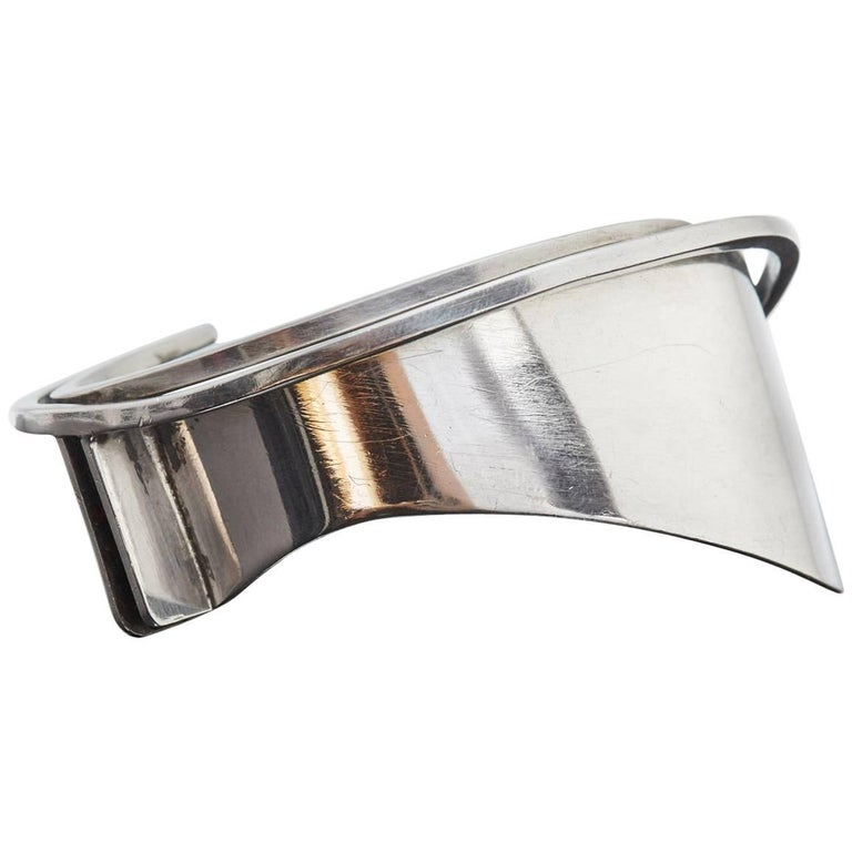 Modernist Sterling Silver Cuff Designed by Ed Wiener, 1950s