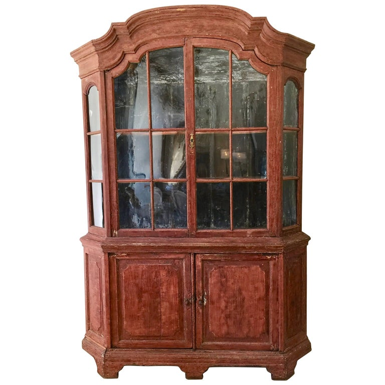 18th Century Dutch Vitrine Cabinet For Sale