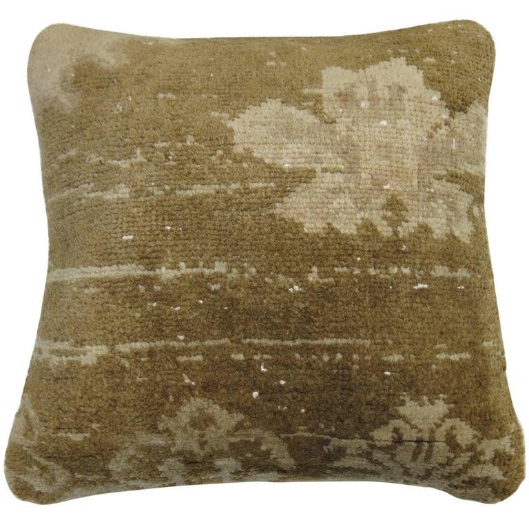 Vintage Oushak Turkish Rug Pillow