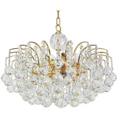 Beautiful Christoph Palme Chandelier Midcentury Crystal Balls, 1970s