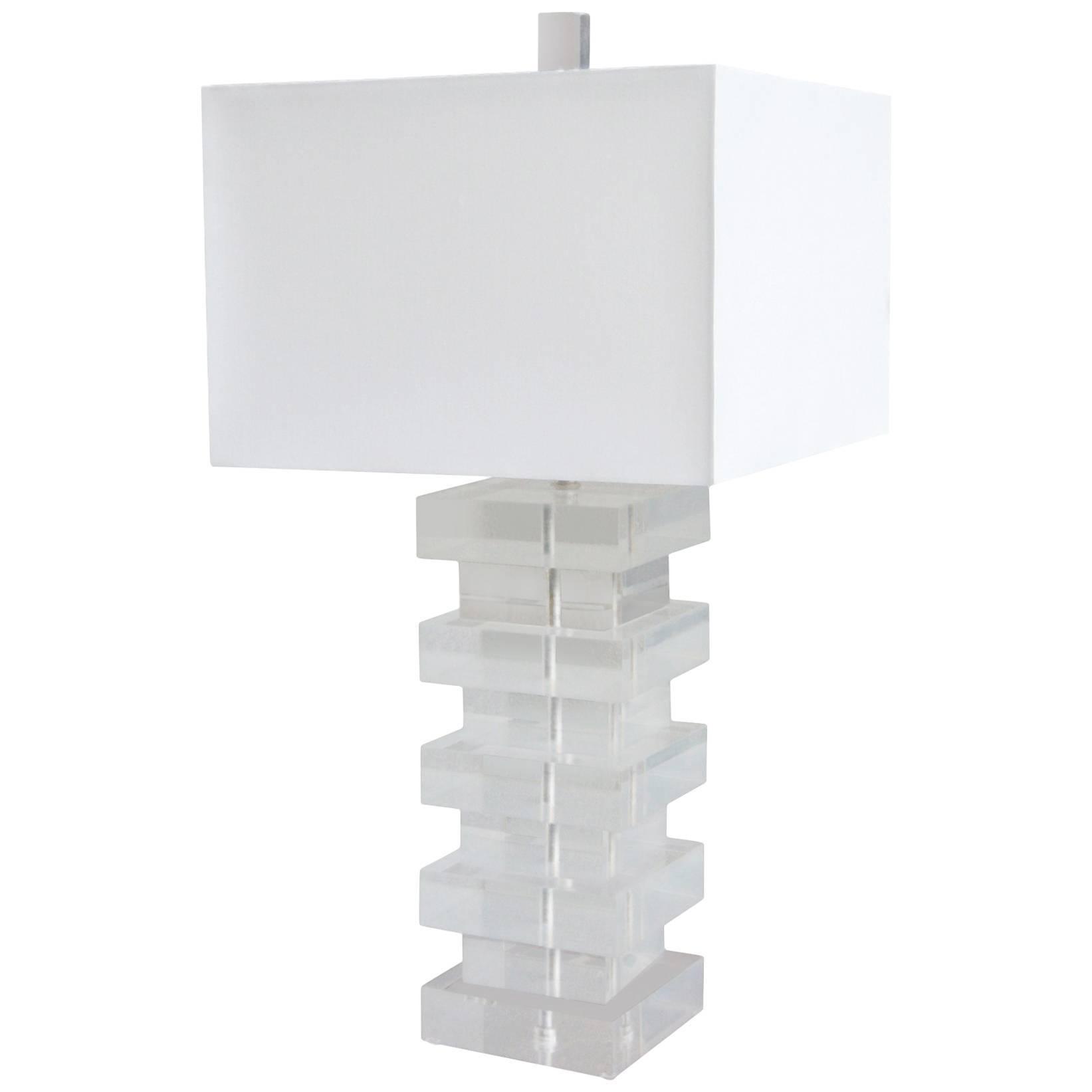 Modernist Lucite Table Lamp