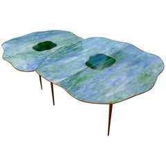 Pair of Mirror Free Shape Low Tables