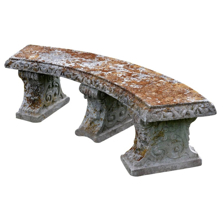 English Composition Stone Bench