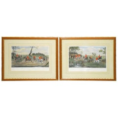 Pair of Equestrian Colored Engravings by C.R. Stock after Henry Alken