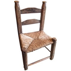 'Van Gogh's chair' French or Spanish Colonial Ladderback Chair