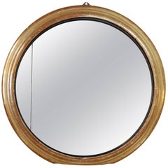 19th Century French Round Gilded Mirror