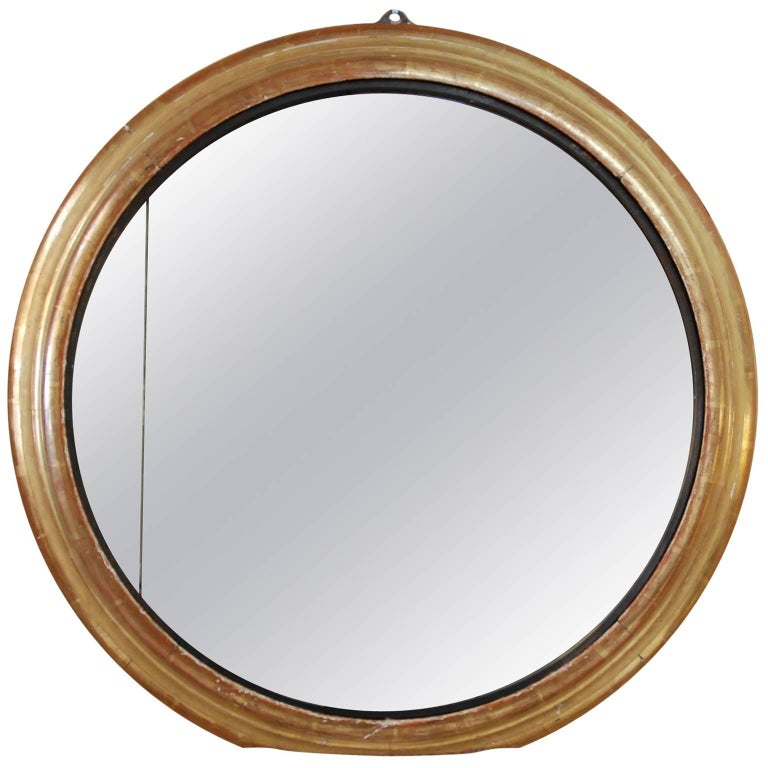 19th Century French Round Gilded Mirror 1