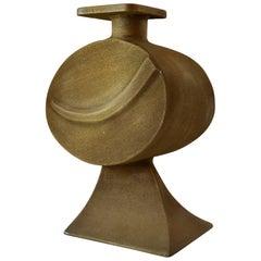 Large Sculptural Bronze Vase signed Nuro