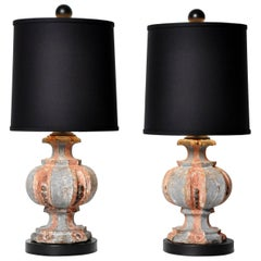 Pair of Wooden Finials Lamps