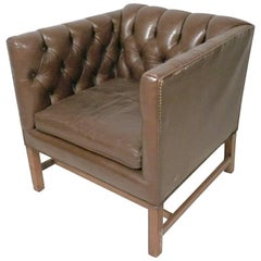 Tufted Midcentury Club Chair