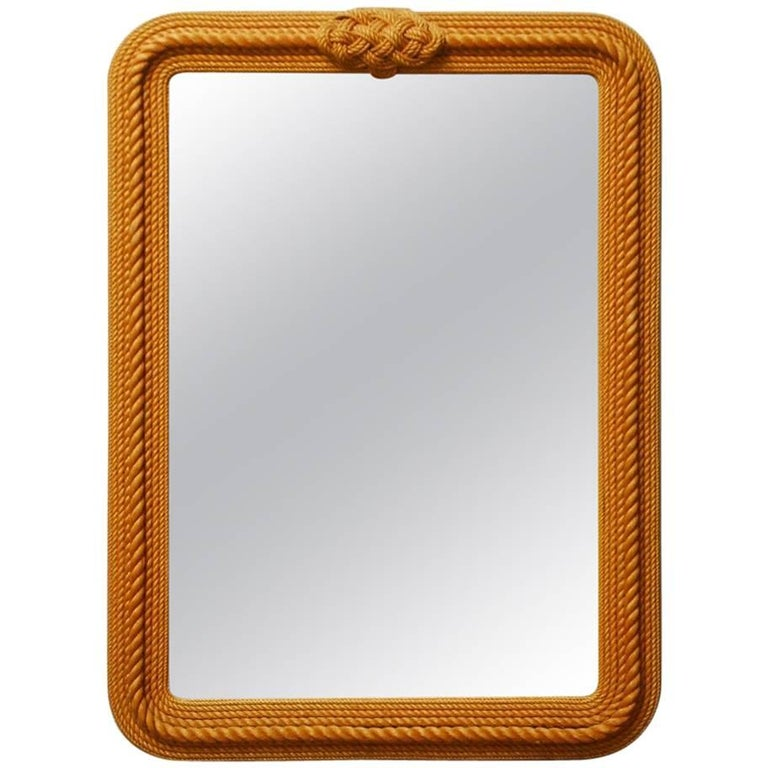 Monumental Maritime Nautical Rope Knot Mirror