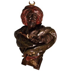 19th Century Blackamoor Bust Signed by Fritz Kochendonfer