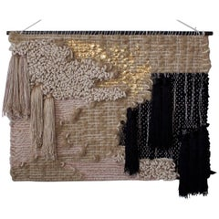 Small Wall Hanging Hemp and Black by All Roads