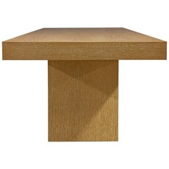Modern Sabbia Desk in Cerused Rift Oak by Aguirre Design