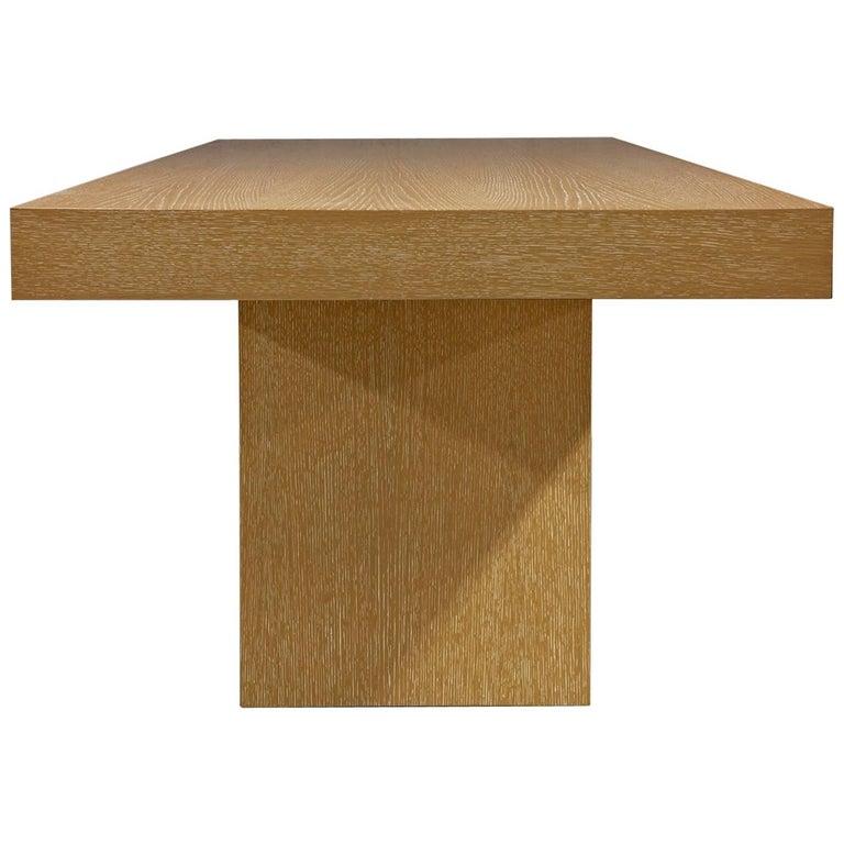 Modern Sabbia Desk in Cerused Rift Oak by Aguirre Design For Sale