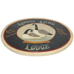 Goose Lake Lodge Trade Sign
