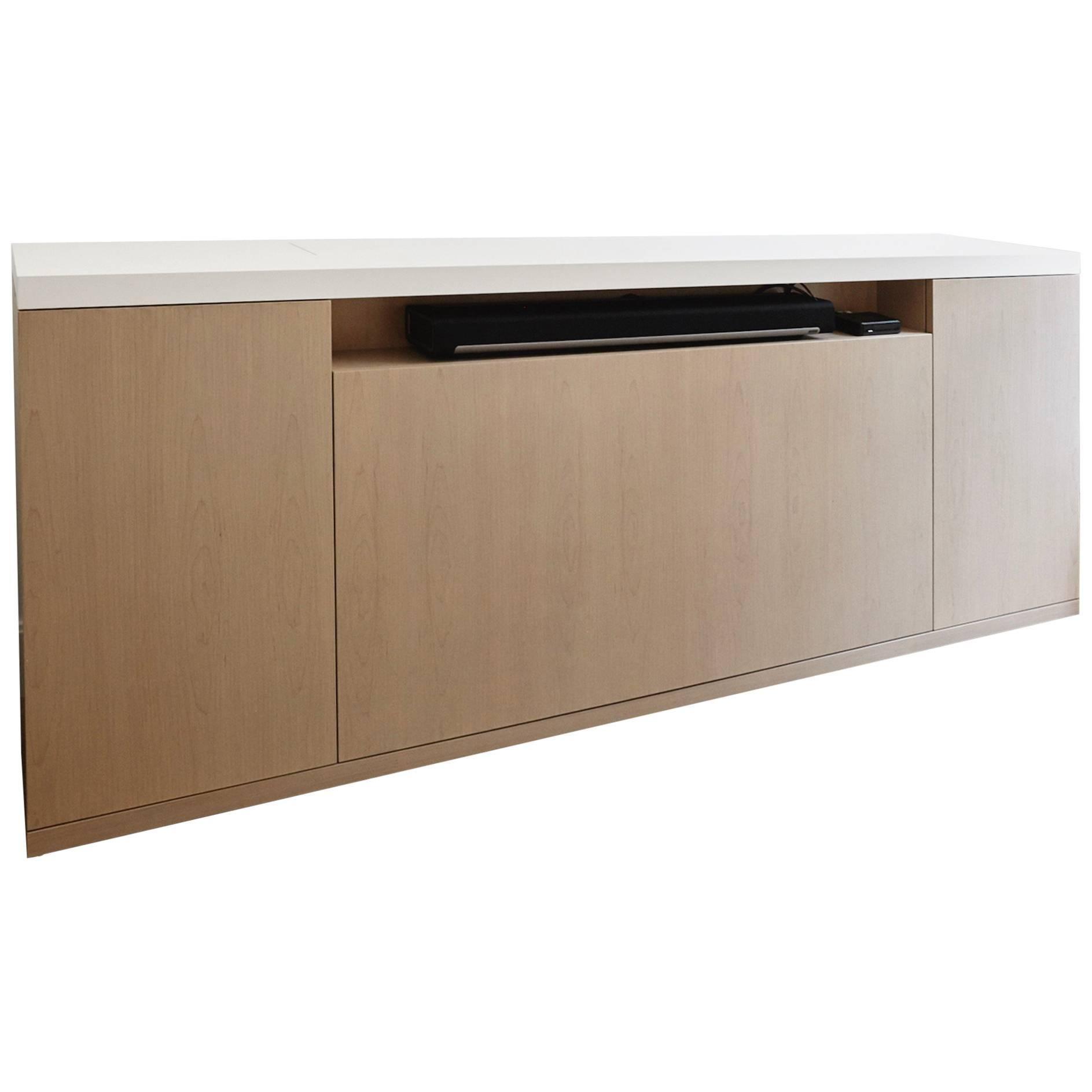 verona cabinet a stylish media unit with storage and wireless tv lift