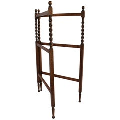 19th Century Oak Quilt Rack in Barley Twist Form
