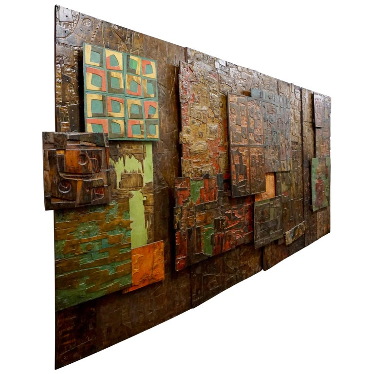 Massive Mixed-Media Abstract Composition by Ricardo Santamaria 1