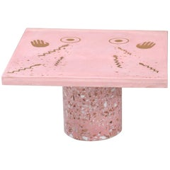 Mothership Coffee Table in Terrazzo with Brass Inlay by Carly Jo Morgan