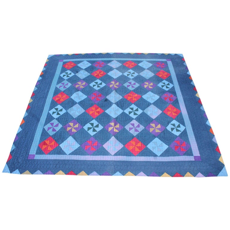 Amish Pin Wheel Quilt For Sale