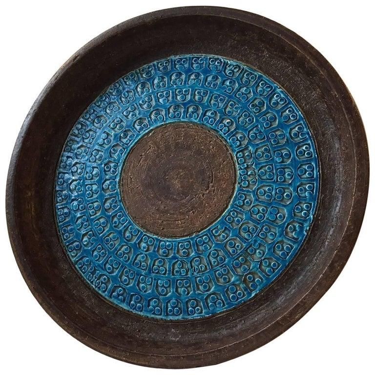 Midcentury Italian Stoneware Bowl by Aldo Londi for Bitossi, 1960s