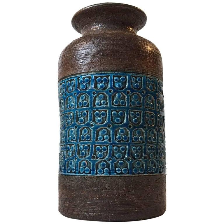 Midcentury Italian Stoneware Vase by Aldo Londi for Bitossi, 1960s