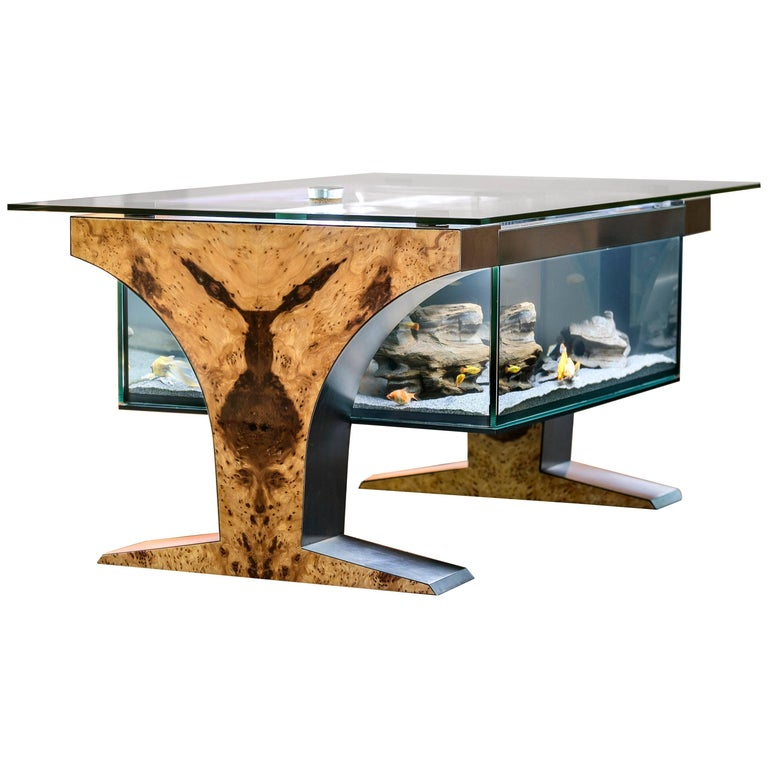 Aquarium as a coffee table by martin pribyla for sale at for Aquarium cocktail table