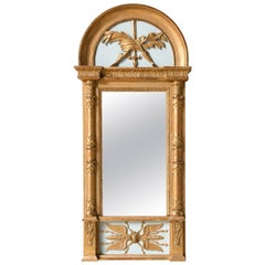 19th Century Swedish Gilded Empire Mirror
