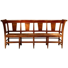 19th Century, French Fruitwood Bench