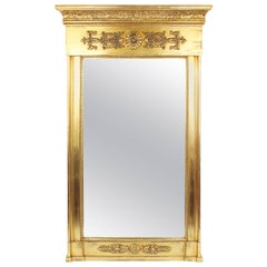 19th Century Pillar Mirror, Empire, Peter Schmuckert, circa 1800-1810