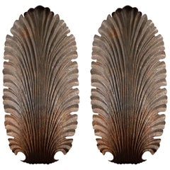 Pair of Mid-20th Century Cast Iron Scallop Shell