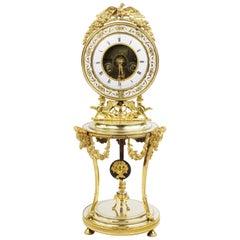 Fine 19th Century Clock, France circa 1810-1820, Bronze Rack, Weekly Runner