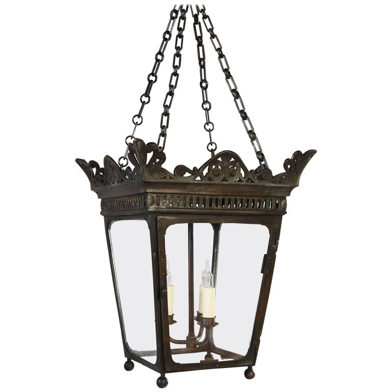 Early 19th Century Bronze Hanging Lantern