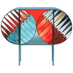 Credenza Sideboard in Stained Glass Design Patricia Urquiola & Federico Pepe