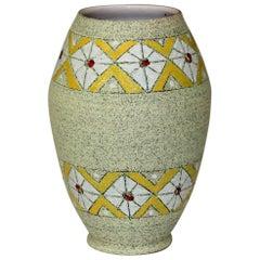 Brothers Fanciullacci Raymor Vase Diamond Band Vintage Italian Pottery Ceramic