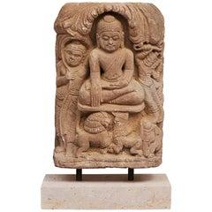 "Burmese Sandstone ""Bhumisparsa Mudra"" Buddha, circa 1500-1700"