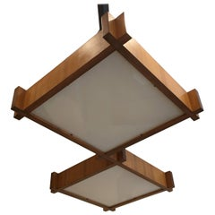 Italian Architectural Ceiling Light, 1950s
