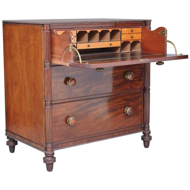Early 19th Century Secretaire Chest of Drawers